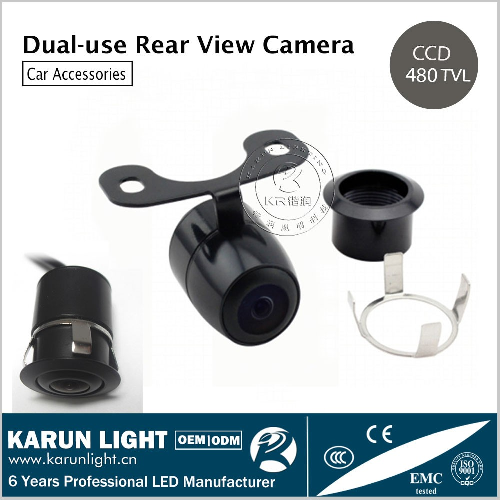 Butterfly KR-8201C Dual-use 4.3inch 480 TV Lines High Definition CCD Car Rear View Camera Reversing Aid Parking Sensor