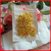 500PCSmall 6*10cm White / Clear Self Seal Zipper Plastic Retail Packaging Bag, Ziplock Zip Lock Bag Storage Package W/ Hang Hole