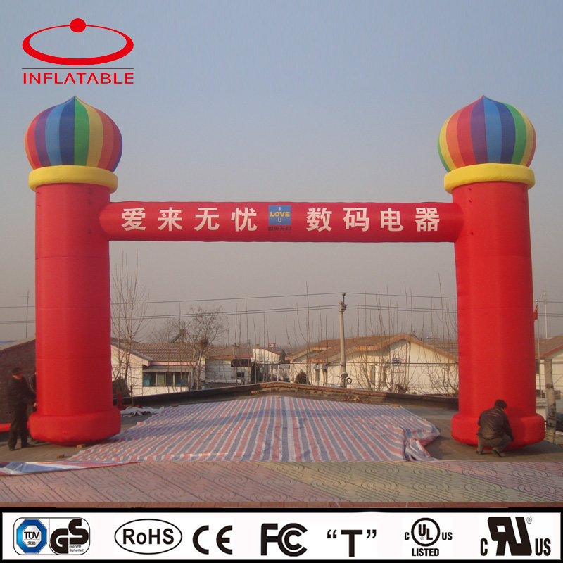 advertising inflatable square decoration arch with logo printing