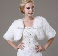 New 2016 Ivory Faux Fur Wedding Shawls for Bridal
