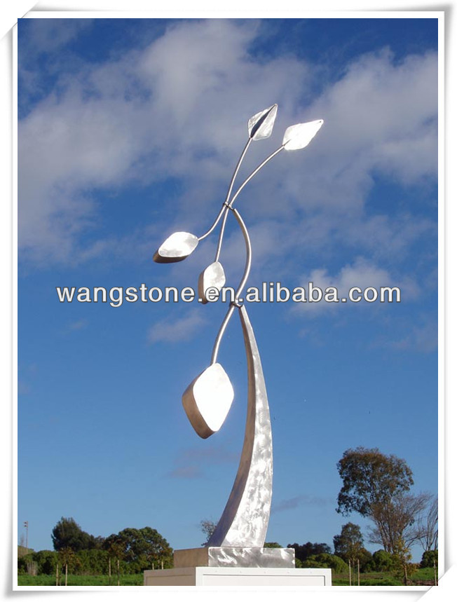 Large Stainless Steel Sculpture Use Plaza Decoration