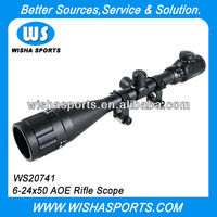 6-24x50 AOE Airsoft Sniper Tactical Hunting Rifle Scope