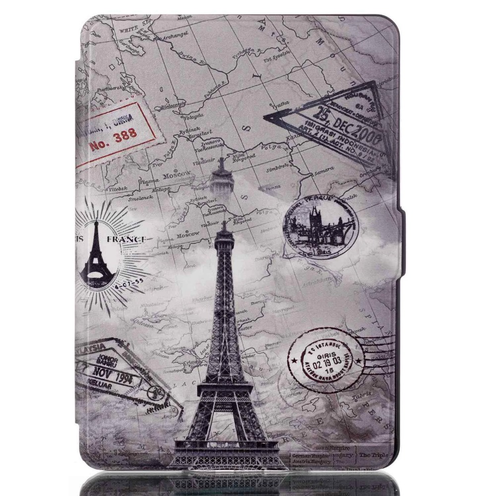 pattern colored drawing leather mobile case cover for kindle paperwhite 1 2 3