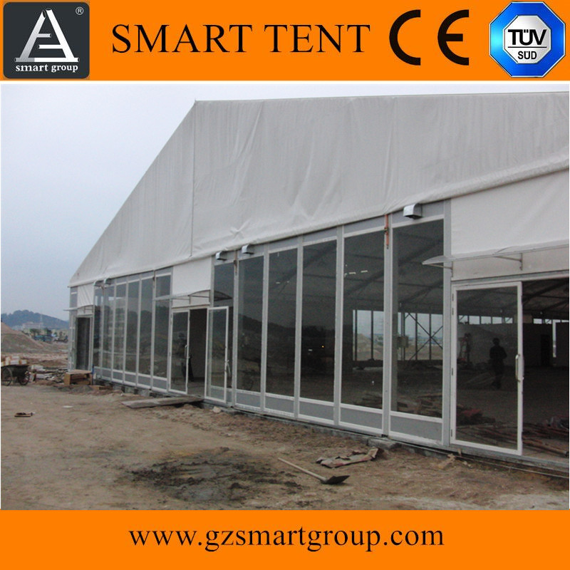 transparent marquee glass storage tent with tailor-made sizes and shapes