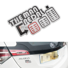 JDM Style Drift The Man Pedal Badge Sticker Decal For Car SUV Truck