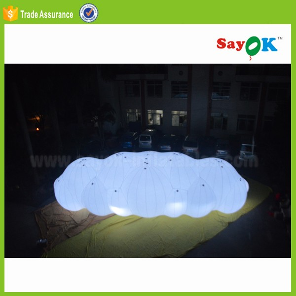 advertising light helium balloon material pvc large cloud shaped helium ballons