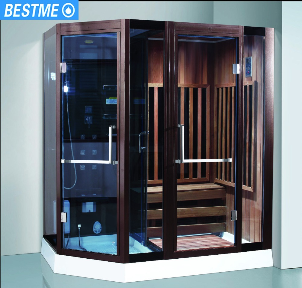 BESTME 2016 Deluxe steam sauna room,shower steam and sauna enclosed