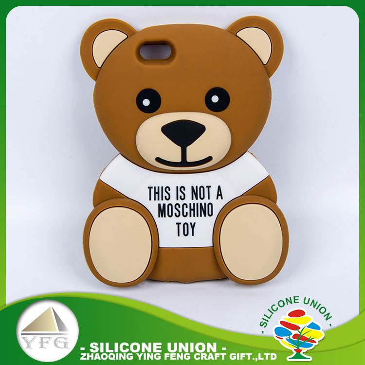 highly durable 3D bear shape mobile phone silicon case