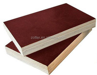 1220x2440x18mm film faced plywood poplar core, finger-joint, brwon film faced/back, WBP glue