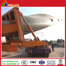 Wind Turbin Blade Trailer Extendable Low Bed Trailer Used In Mountain Road