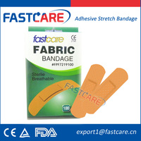 FDA Approval Sterile Waterproof Adhesive Wound Plaster Fabric