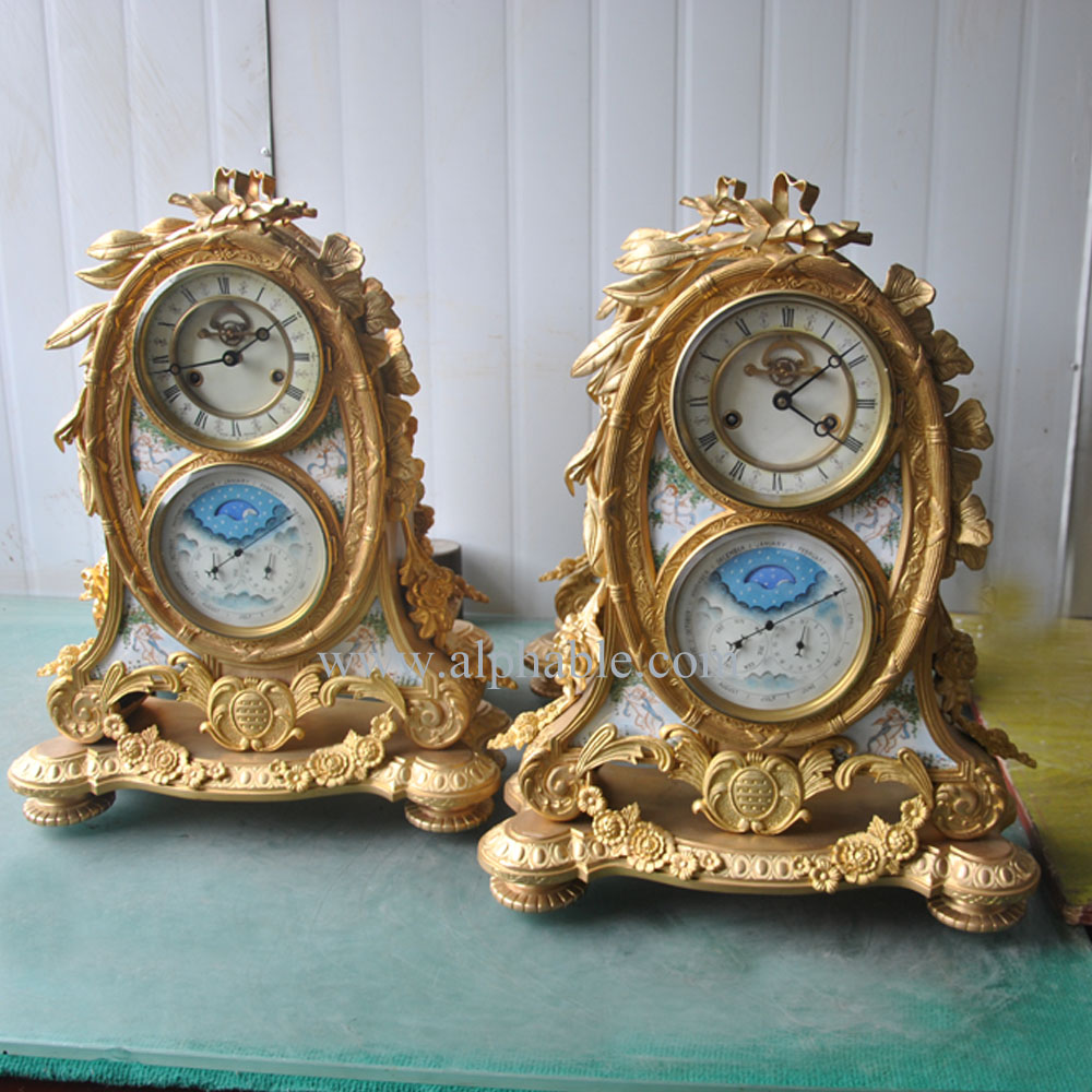 Wholesale Golden Antique Reproduction French Clock