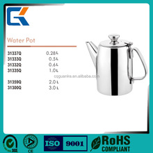 Lead free stainless steel mirror polished large water pot