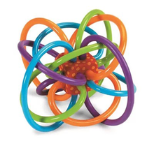 Amazon Hot Sell Manhattan teether Winkle Rattle Sensory Teether Activity Toys Silicone Teether