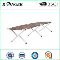 New design cheap nylon aluminium folding cot bed