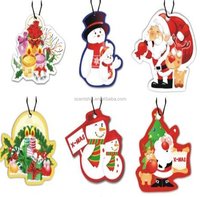 High quality cheap price custom design merry Christmas hanging car paper air freshener