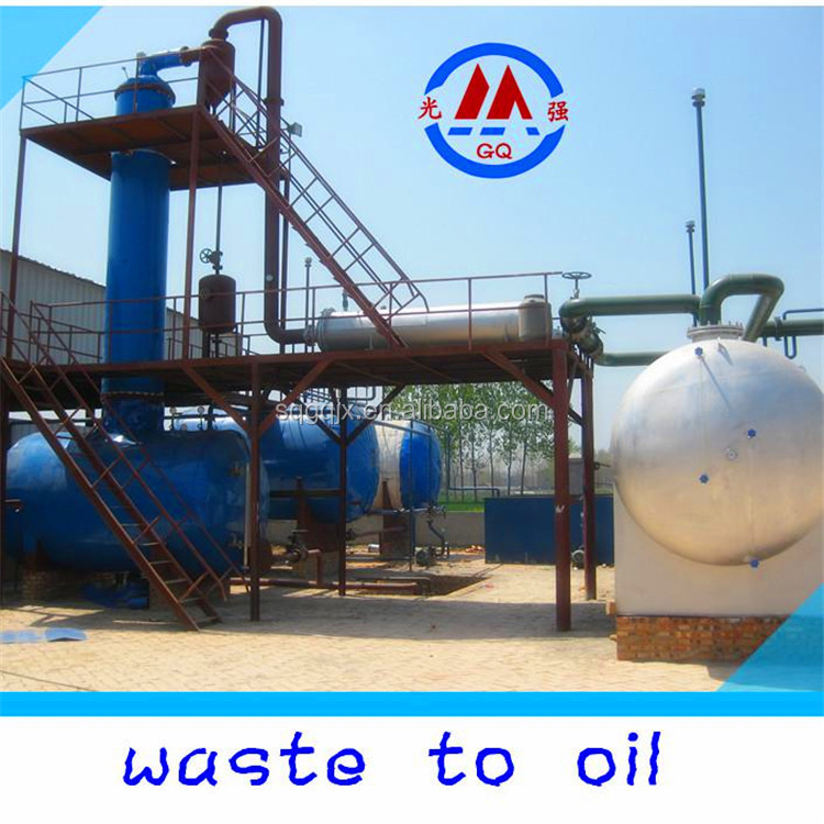10-ton automatic 100% non-pollution waste tyre plastic oil refining to diesel distillation equipment