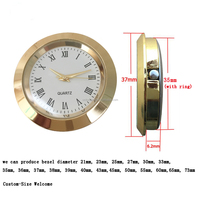 Clock Inserts Clock Fit Up Mini Metal Clock Inserts Small Clock Japan PC-21S movement inside