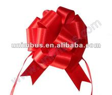 Quick tie bows,satin ribbon drawstring pull bows for merchandise