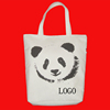 Blank custom promotional Panda canvas tote bag
