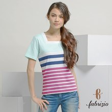Hot Sale Classical striped women summer t shirt western style ladies casual t shirt