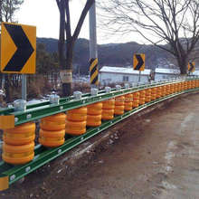 highway traffic safety guardrail roller barrier
