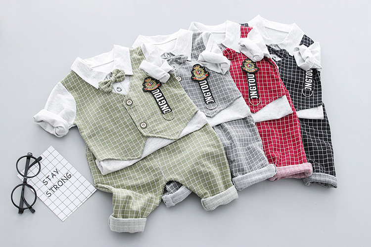 guangzhou latest suit design children clothing baby clothes cotton suits