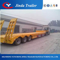 Professional 3 axle flatbed trailer car trailer rental
