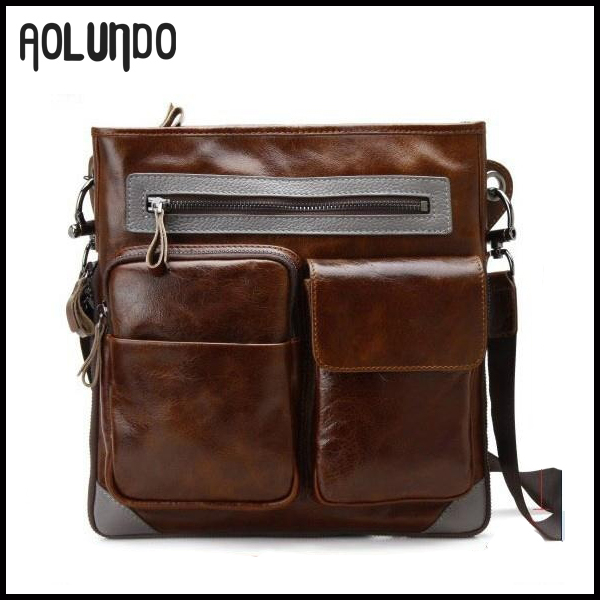 Retro Crazy Horse Bags Leather bag Vintage Crossbody mens Shoulder Bags