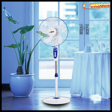 "16"" solar rechargeable AC/DC emergency stand fan with high quality aluminium motor"