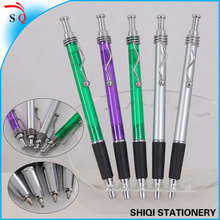 new design novelty promotional metal wave clip ball pen