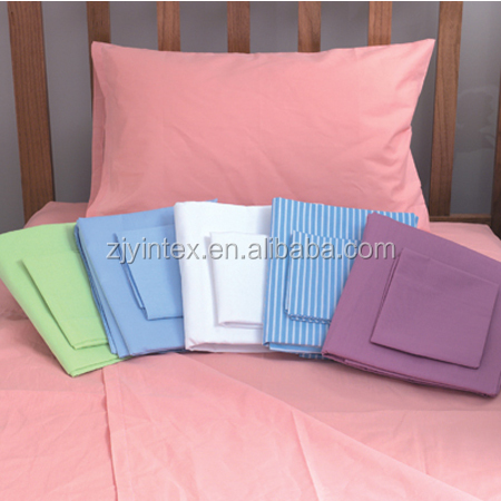 OEM 5 Star Hotel Used 1800 like Egyptian Cotton Plain Fabric Hotel plain Linen Bed Sheets