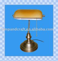 2011 Best Selling Classical Antique Table Banker Lamp MOQ50pcs Accepted For Office and Bank
