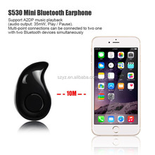 New Mini Style Wireless Bluetooth Headphone S530 In-ear V4.0 Stealth Hand free Earphone Phone Headset