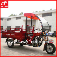 5.0 Big Tires 3 Wheeler Moto Motorcycles Cargo Tricycle With Cabin For Driver