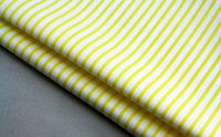 fabric wrinkle free easy care non iron for shirting trousers garment 50s yellow white striped mercerised 100 cotton yarn dyed