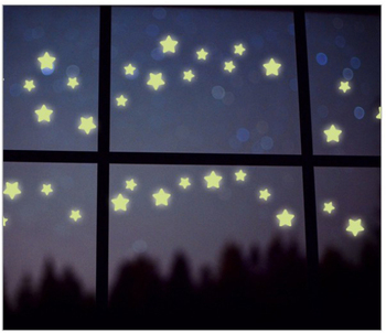 Glowing Star Sticker Fluorescent Sticker For Living Room Removable Kids Wall Decals Sticker Waterproof Glow In The Dark