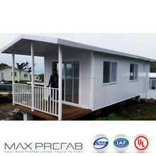 PC9833 bungalow mobile luxury prefab portable log cabins for beach house