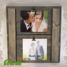 Custom handmade rustic wooden pallet photo frame wholesale, shabby chic decorative desktop wall hanging picture frame for sale