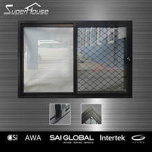 Australian Standard Sound proof Aluminum Brown Color Sliding Window with insert screen
