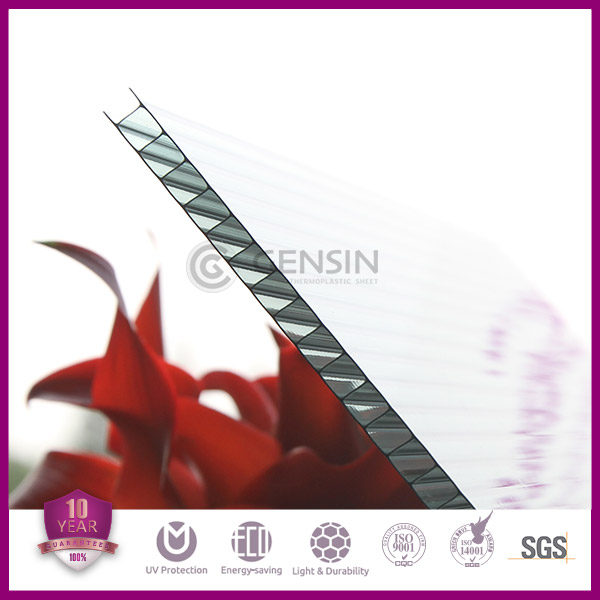 Colored 2100*5800mm 6mm hollow plastic polycarbonate sheet
