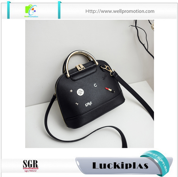Alibaba china supplier women designer handbags wholesale ladies PU purses handbags with shoulder strap