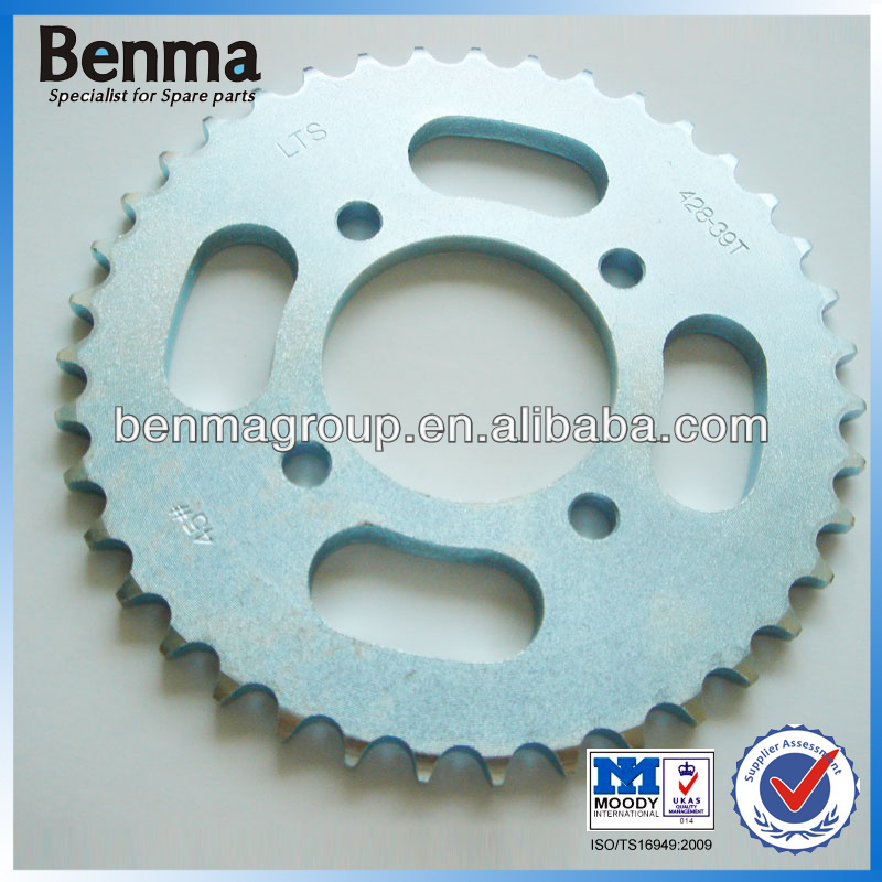 long service life motorcycle sprocket,high quality small motorcycle chain sprocket,hot sell and custom for you