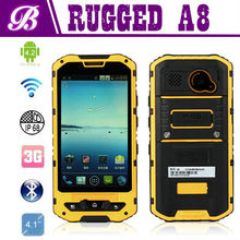 Factory Price 4.0 Inch MTK6572 Dual Core IP68 Android 4.2 Rugged Waterproof Cell Phone Land Rover A8