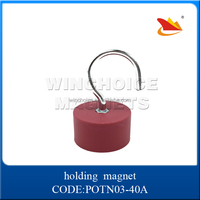 red rubber coated pot magnet, POTN03-40A