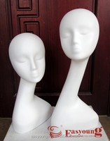 new style fashion female head fiberglass mannequin for hat , egg wig heads