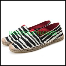 New Arrival Sewing Pattern Strip Shoes Handmade Canvas Shoes