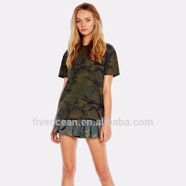 Wholesale Custom Khaki Camo Printed Front Pleat Sweat Sports Running Women Camouflage Shorts