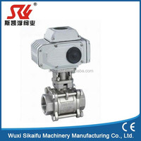 High quality thread connection electric control stainless steel ball valve with motorized actuator