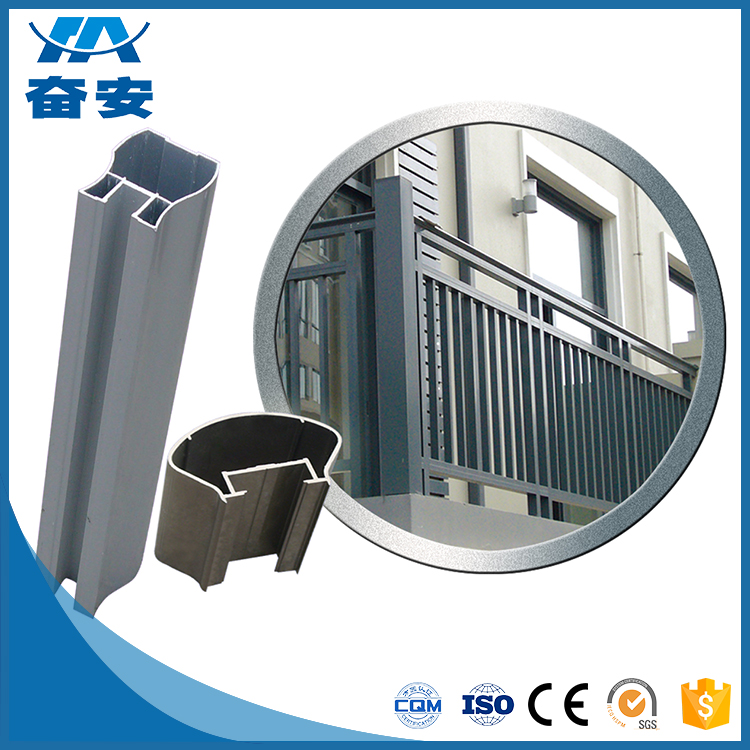 Good reputation high quality Extruded black aluminum fence / aluminum fence china